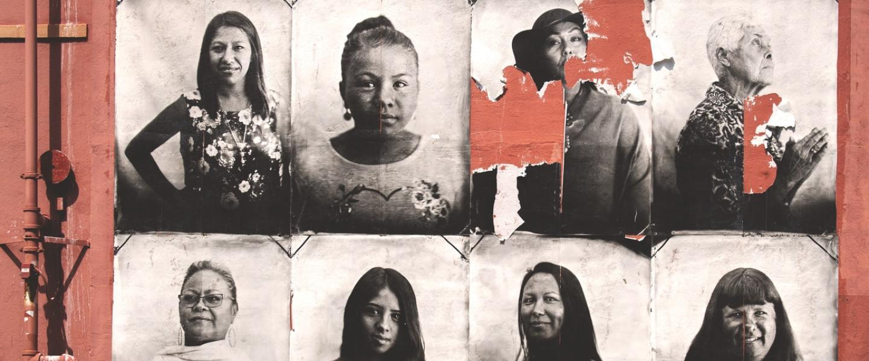 black and white photo of historical latina women